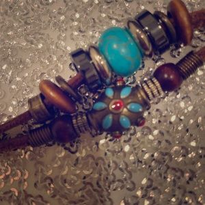 Turquoise and beed bracelet